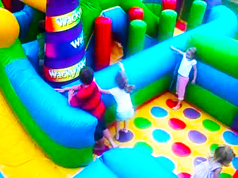 tons of kid friendly obstacles