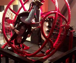 Exciting and portable mobile mechanical hard ride. The Gyro Extreme