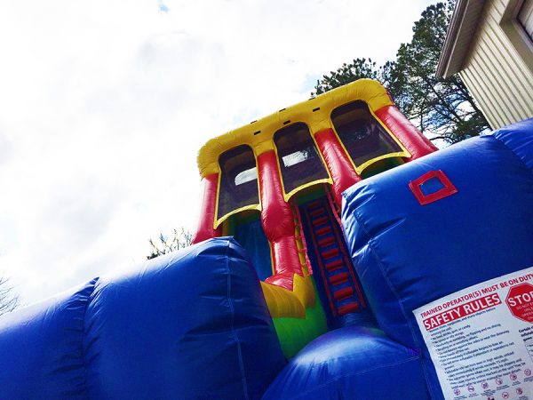 inflatable slide two extra fast lanes